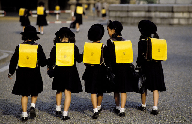 Tokyo, Japan --- Schoolgirls Walking Together --- Image by © Patrick Frilet/Hemis/Corbis